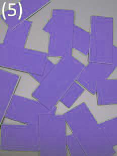 geschnitten in 16 adhäsive Chips Stoff einlagig kaschiert* auf starkem Papier (Chipgröße 4,5 cm x 2,0 cm)