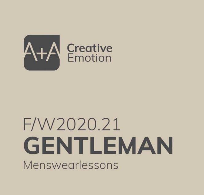 A + A Gentlemen - Men's Color  Trends A/W 2020/2021