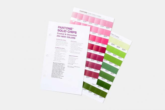PANTONE Solid Chips CU coated & uncoated Supplement (2-book set)