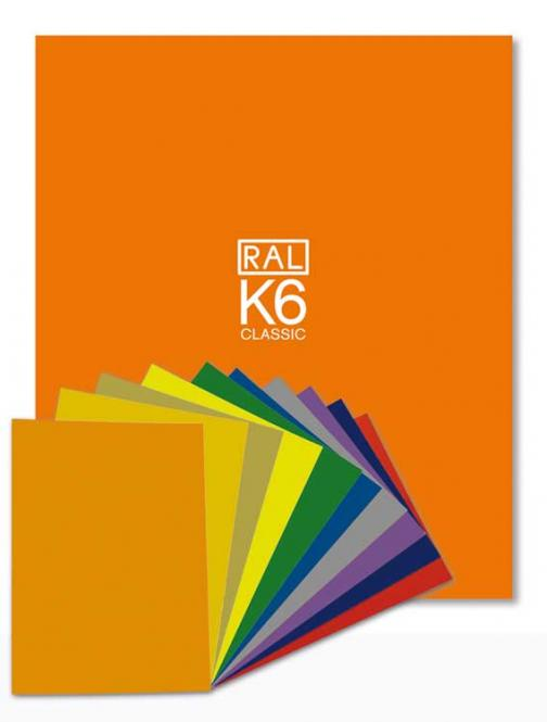 RAL K6 Ring binder with all 213 RAL CLASSIC colours