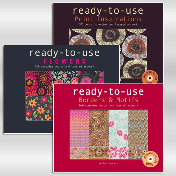 Ready to Use Package (Print Inspirations/Borders & Motifs/ Flowers)